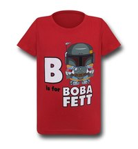 Star Wars B is for Boba Fett Kids T-Shirt (Size 4)