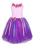 Pink Poppy: Rainbow Fairy Dress (Size 3/4) - Lilac