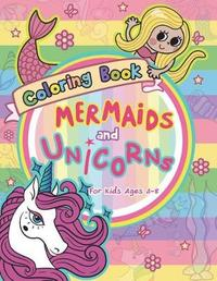 Mermaid and Unicorns Coloring Book for Kids Ages 4-8 by V Art