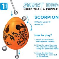 Smart Egg: 1-Layer Labyrinth Game - Scorpion