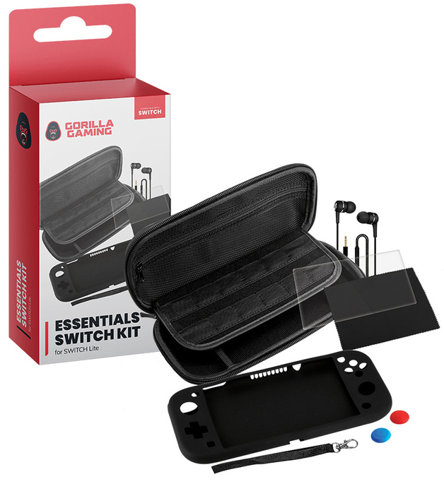 Gorilla Gaming Switch Lite Essentials Kit for Switch