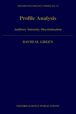 Profile Analysis by David M. Green