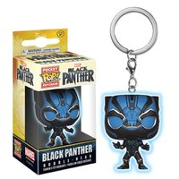 Black Panther (Blue Glow) - Pocket Pop! Key Chain