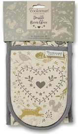 Woodland Double Oven Gloves image