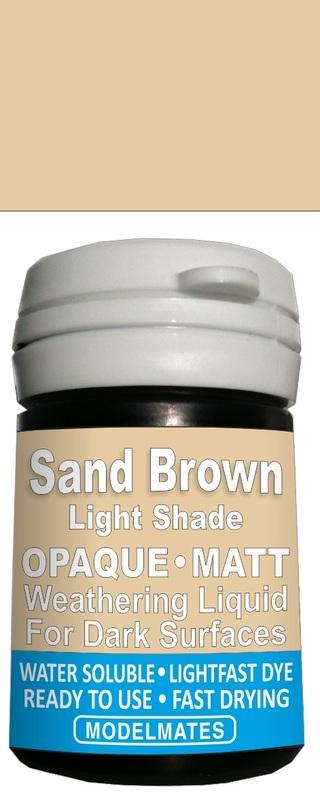 Modelmates: Opaque Weathering Liquid - Light Sand
