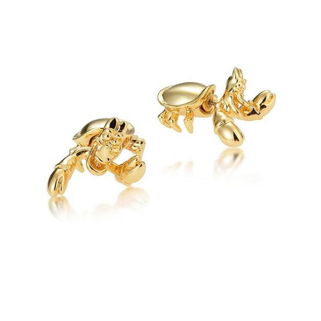 Couture Kingdom: Disney - Princess Ariel Sebastian Stud Earrings (Yellow Gold)