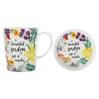 Maxwell & Williams Royal Botanic Garden Green Thumb Mug & Coaster - Beautiful (400ML)