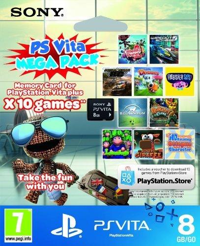 Sony PS Vita Mega Pack (8GB card + 10 titles) for Vita