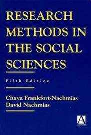 Research Methods in the Social Sciences by Chava Frankfort-Nachmias image