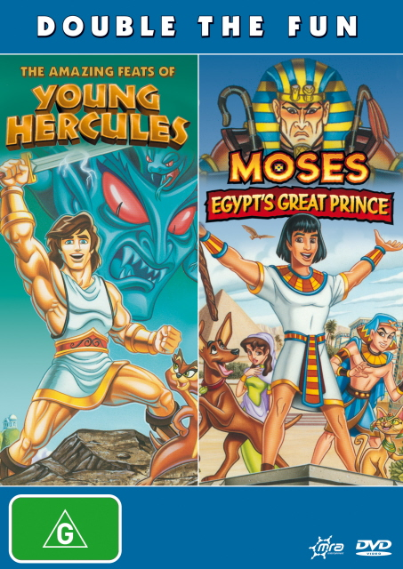 Amazing Feats Of Young Hercules, The / Moses - Egypt's Great Prince on DVD image