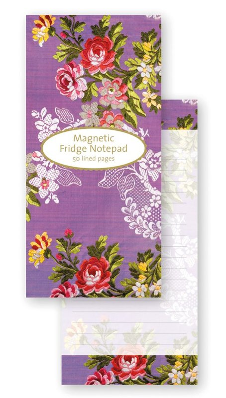 Museum & Galleries: V&A Magnetic Fridge Notepad - Purple Dress Fabric