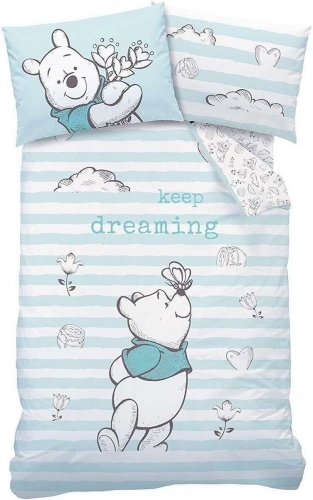 Disney: Reversible Duvet Cover Bedding Set - Winnie the Pooh Butterfly (Single) image