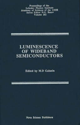 Luminescence of Wideband Semiconductors: v. 182 image