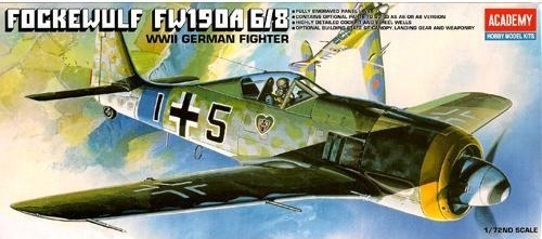 Academy Focke Wulf FW190A-6/8 1/72 Model Kit