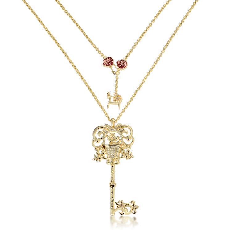 Disney Couture Princess Aurora Necklace - Yellow Gold image