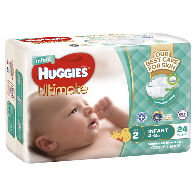 Huggies Ultimate Nappies - Size 2 Infant (24)