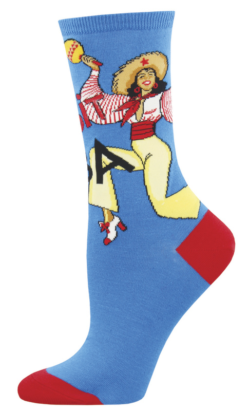 Socksmith: Women's Visit Cuba Crew Socks - Mint