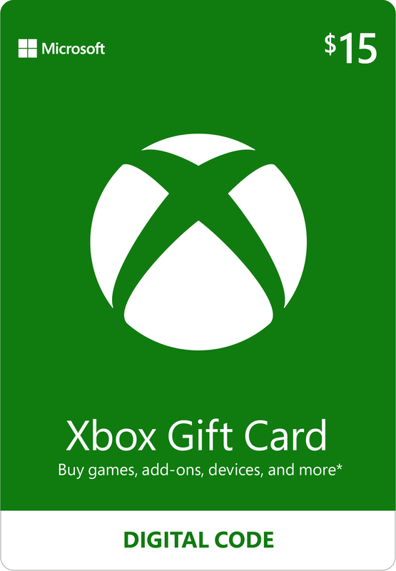 Xbox Live $15 Gift Card (Digital Code) for Xbox One