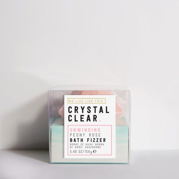 We Live Like This: Crystal Clear Gem Bath Fizzer - Peony Rose (154g)