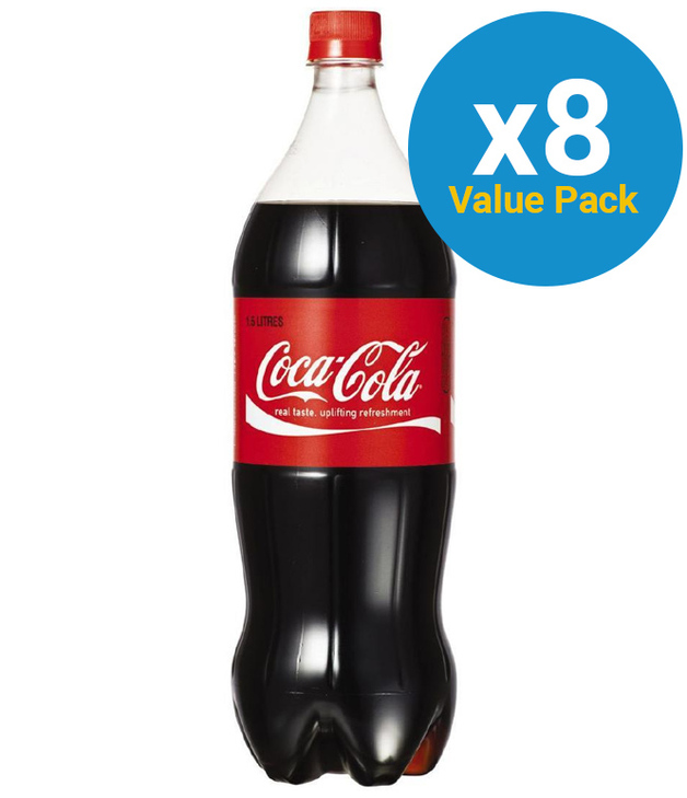 Coca-Cola Soft Drink 1.5l (8 Pack)