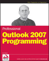 Professional Outlook 2007 Programming by Ken Slovak