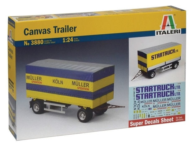 Italeri: 1:24 Canvas Trailer - Model Kit