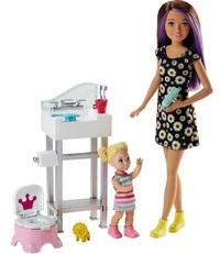 Barbie: Babysitters Inc. - Doll & Playset (Potty Training)