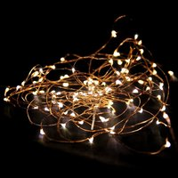 Set of Two 2.3m LED Copper Wire Seed String Lights - Yellow