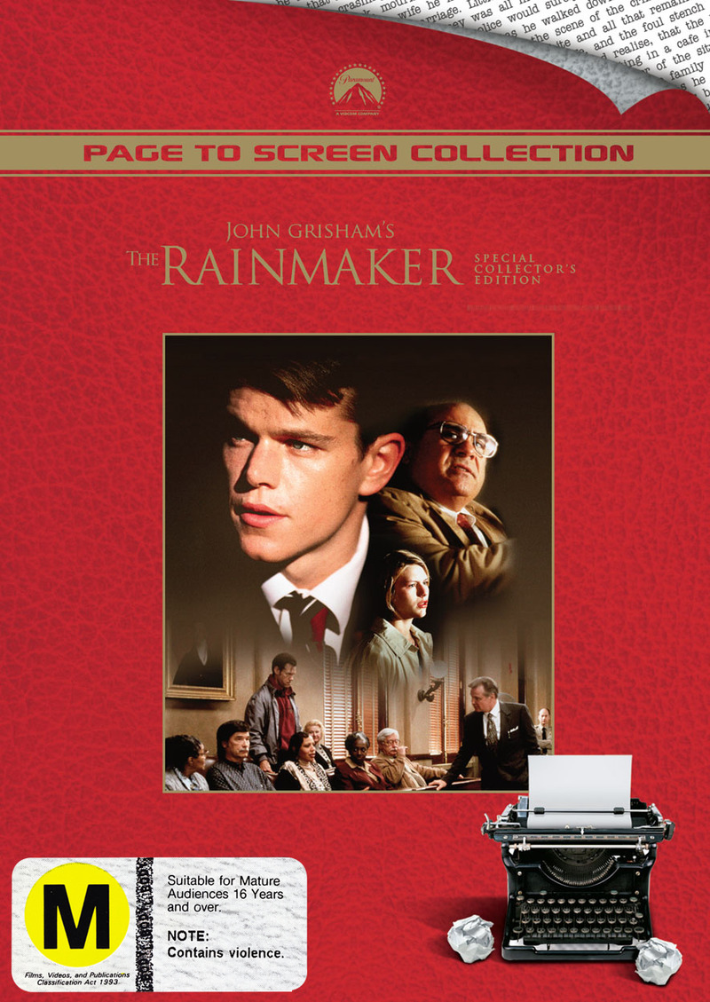 The Rainmaker (John Grisham's) - Special Collector's Edition (Page to Screen Collection) on DVD image