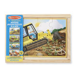 Melissa & Doug: Wooden Construction Jigsaw Puzzles in a Box