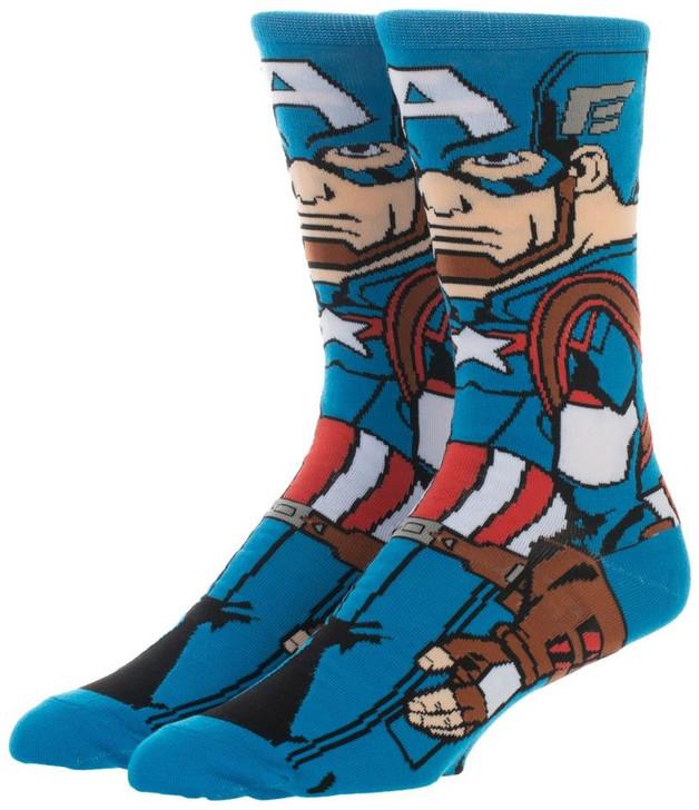 Marvel: 360 Character Crew Socks - Captain America