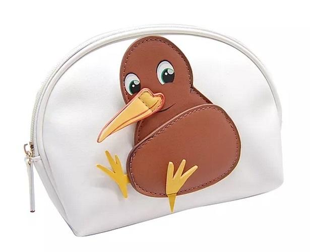 Moana Road Kiwi Toilet Bag with Wing Mirror (White)