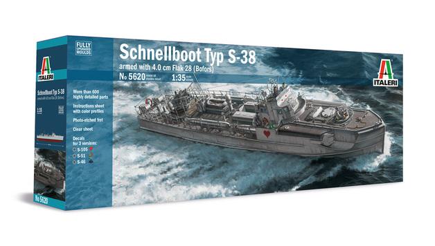 Italeri: 1/35 Schnellboot Typ S-38 - Model Kit