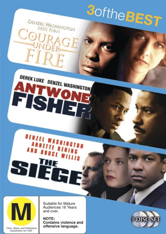 Courage Under Fire / Antwone Fisher / The Siege - 3 Of The Best (3 Disc Set) on DVD