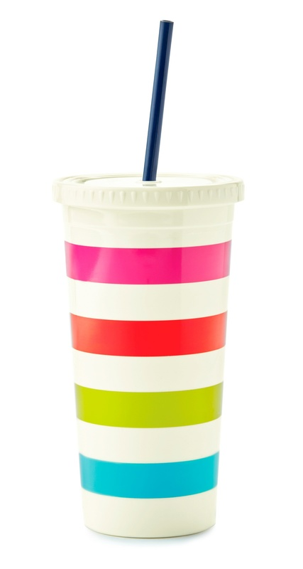Kate Spade: Candy Stripe Insulated Tumbler