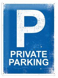 Nostalgic Art: Tin Sign - Private Parking