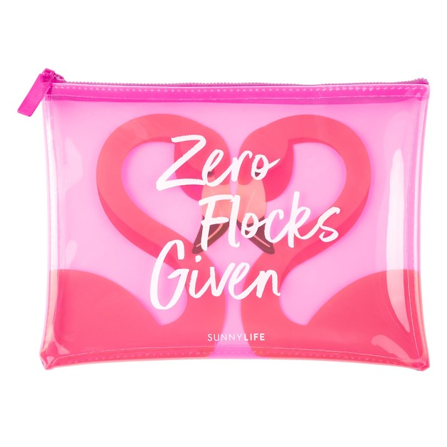 Sunnylife: See-Thru Pouch - Flamingo