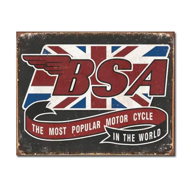 BSA Motorcyles Retro Tin Sign