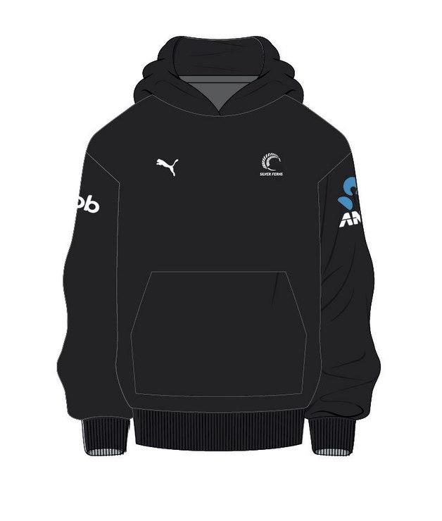 Puma Silver Ferns Unisex Sponsor Hoody | Black (XXL)