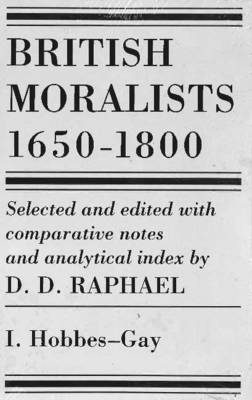 British Moralists: 1650-1800 (Volumes 1 and 2) image