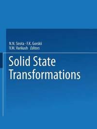 Solid State Transformations by N N Sirota