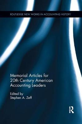 Memorial Articles for 20th Century American Accounting Leaders image