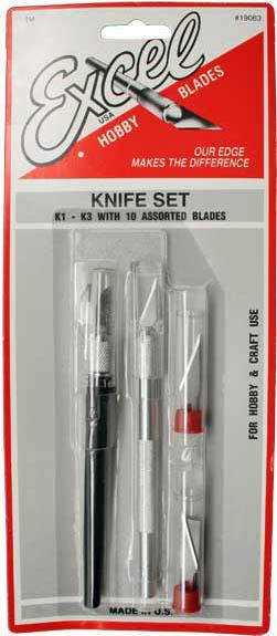 Excel Light Duty Hobby Knife Set (12pc)