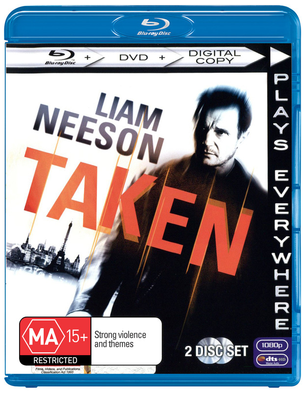 Taken on DVD, Blu-ray
