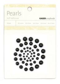 Kaisercraft: Self Adhesive Pearls - Black