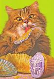 Avanti Greeting Card - Cat & Cupcakes