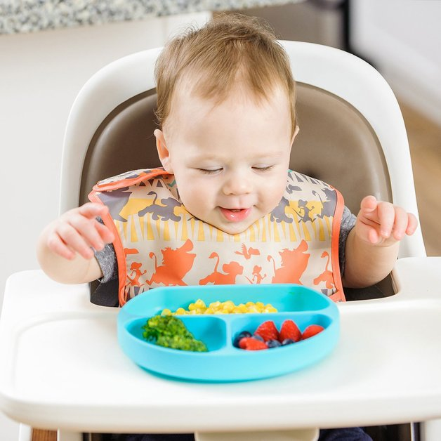 Bumkins: Silicone Grip Dish - Blue