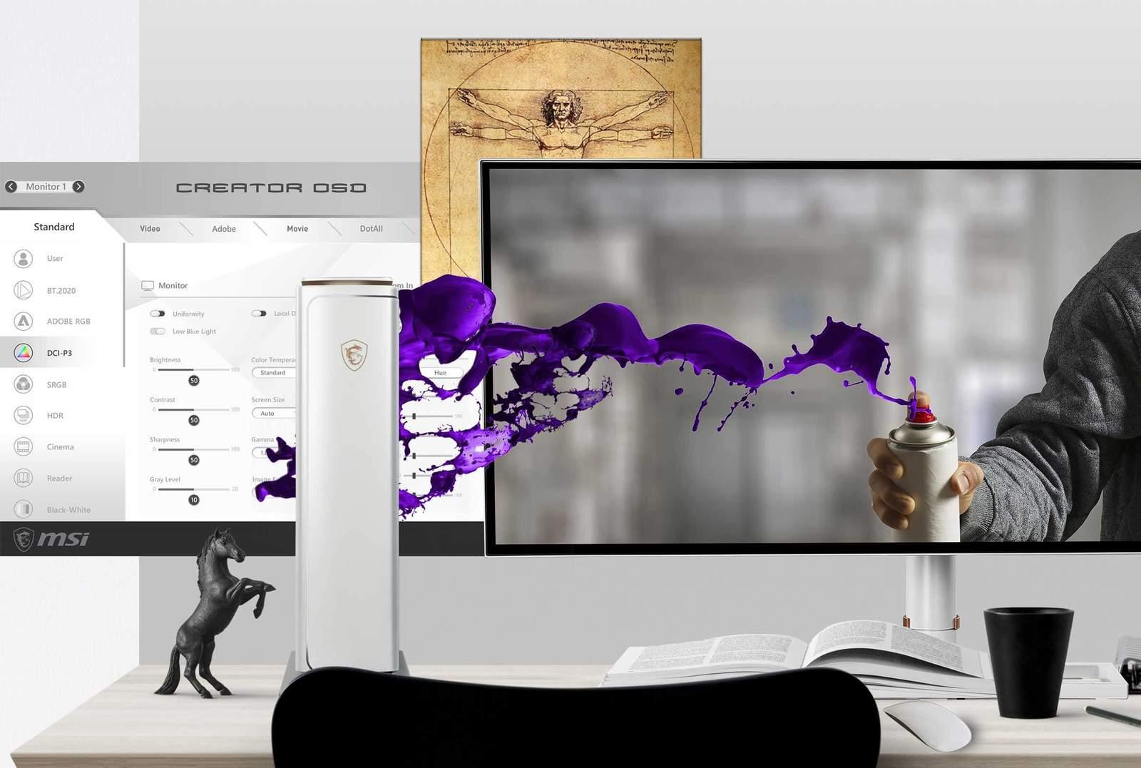 MSI Prestige P100 9th i9 64GB 2080 Ti 1TB 4TB Desktop image