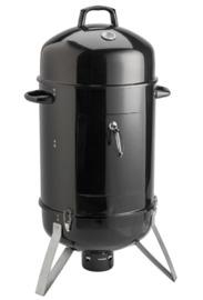 "18"" Vertical Portable Charcoal Barrel Smoker BBQ Grill"