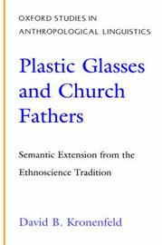 Plastic Glasses and Church Fathers by David B Kronenfeld
